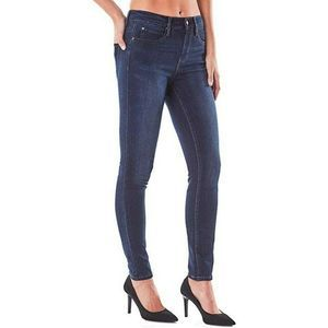 Nicole Miller Womens Jeans Deep Blue Size 4 Stretc
